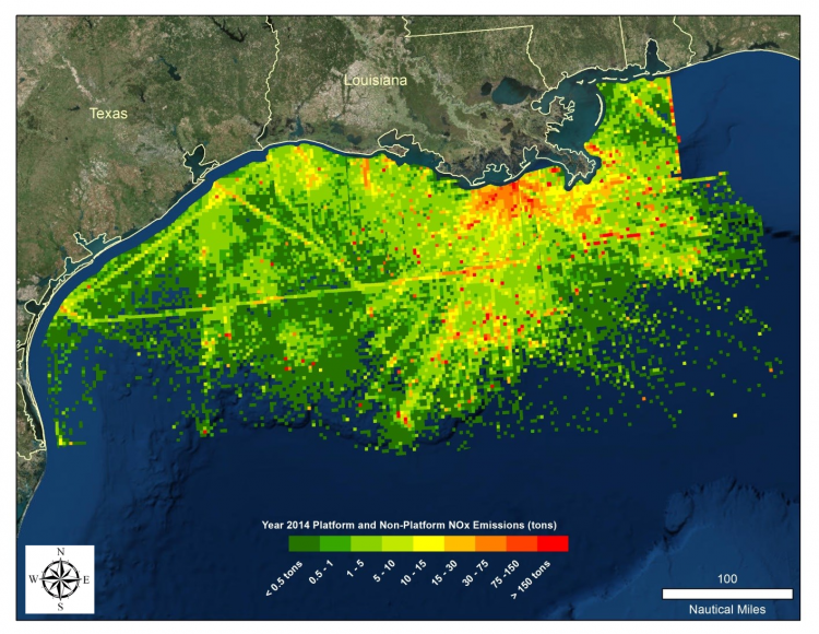 Satellite Data for Offshore Air Quality Applications | Land