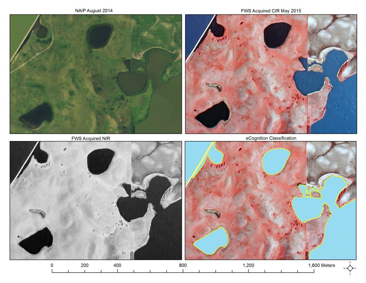 This series demonstrates the utility of color infrared (and specifically near-infrared light) for mapping surface water and ultimately creating automated classification of water.