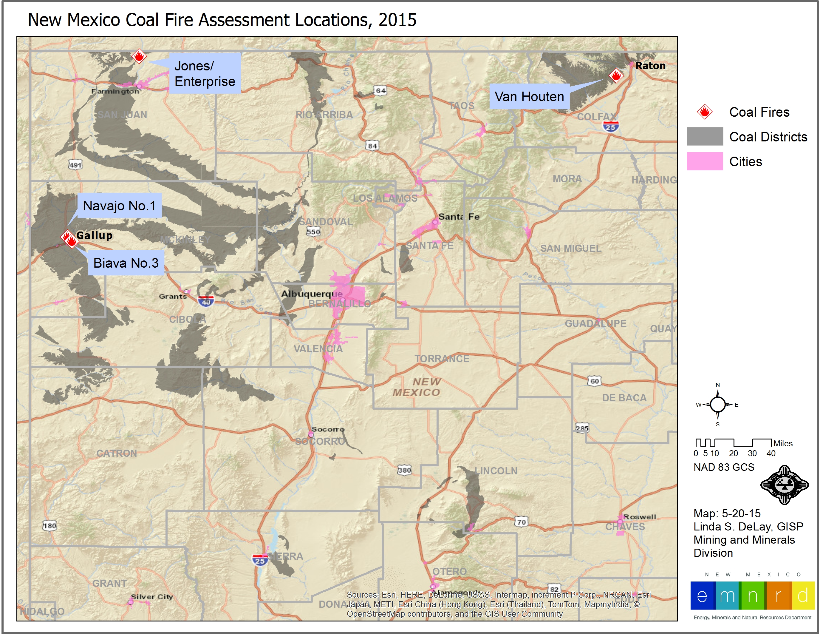 Underground Coal Fires In New Mexico Land Imaging Report Site