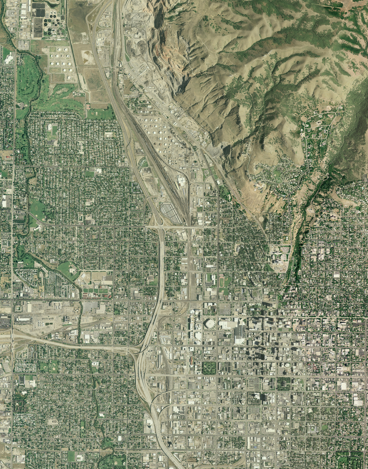 National Agriculture Imagery Program JPEG2000 image of Salt Lake City, Utah.