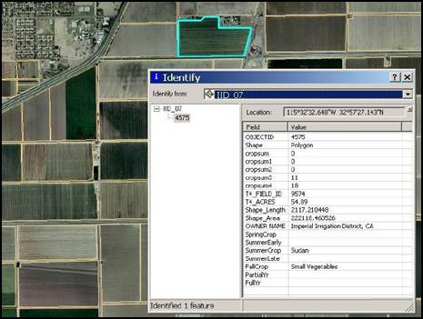 Example of the irrigated lands GIS for the Imperial Irrigation District in California.