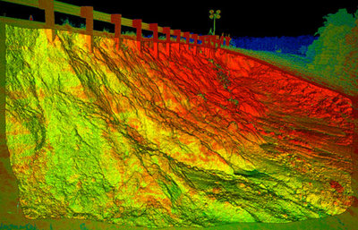Assessment of damage to Tangipahoa Dam near McComb MS with T-lidar following Hurricane Isaac in McComb, MS