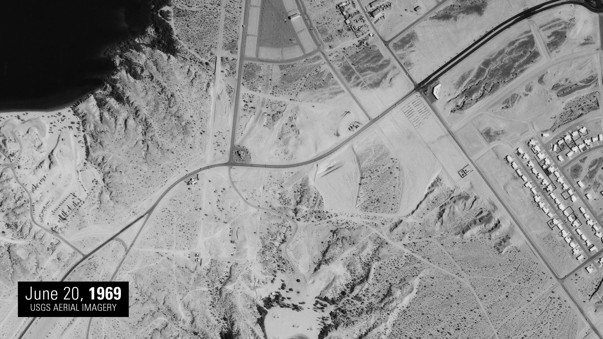 Lake Havasu City and London Bridge before