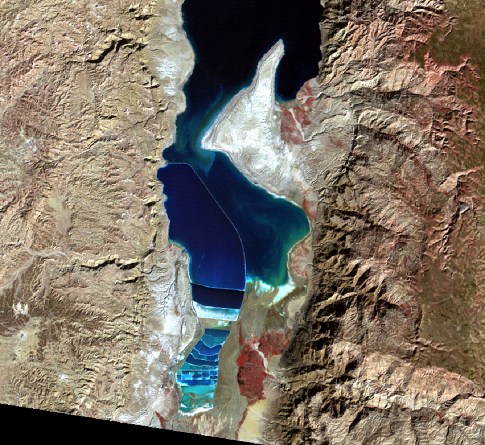 Jan. 1, 1973, Landsat 1 (path/row 187/38) — southern Dead Sea