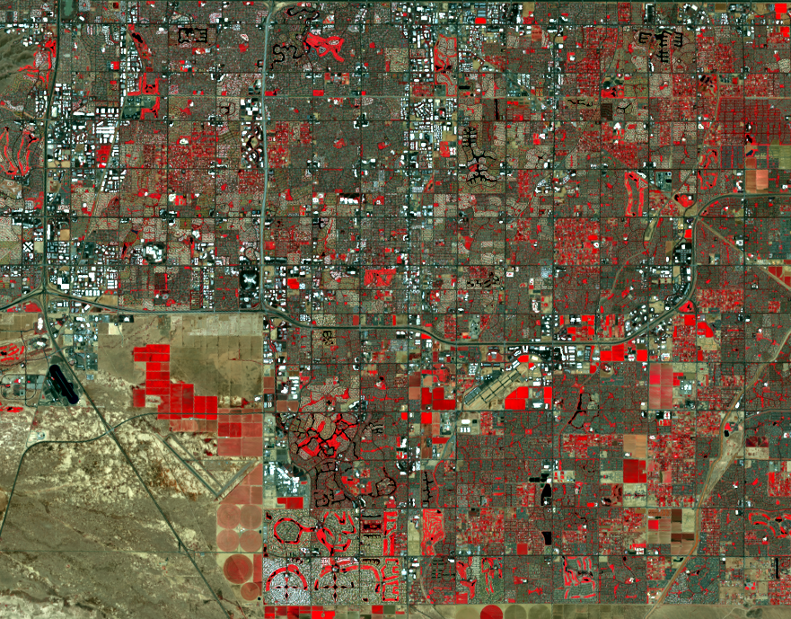 Aug. 8, 2020, Landsat 8 (path/row 37/37) — Chandler, Arizona, AZ