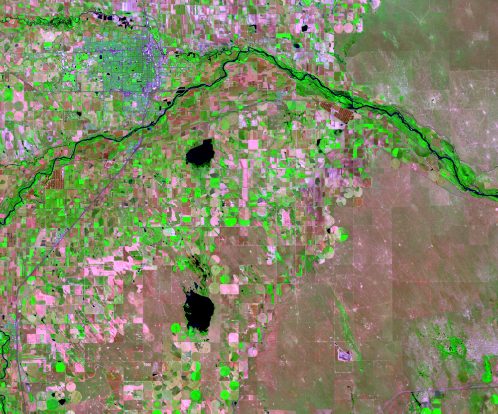June 22, 1984, Landsat 5 (path/row 33/32) — Greeley, CO, USA