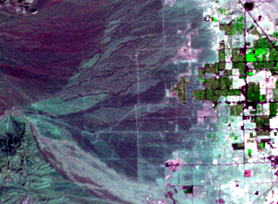 Sep. 13, 1972, Landsat 1 (path/row 42/35) — western Las Vegas, Nevada, USA