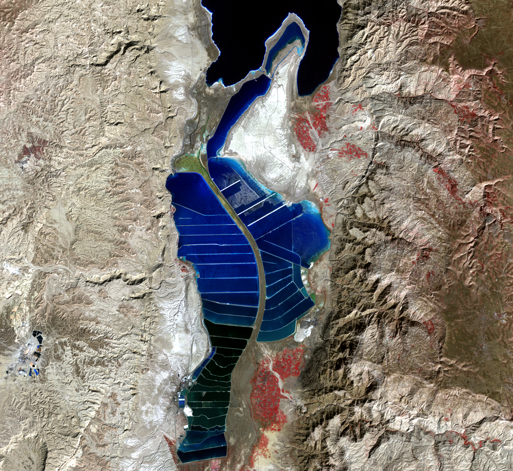 Feb. 15, 2000, Landsat 7 (path/row 174/38) — southern Dead Sea