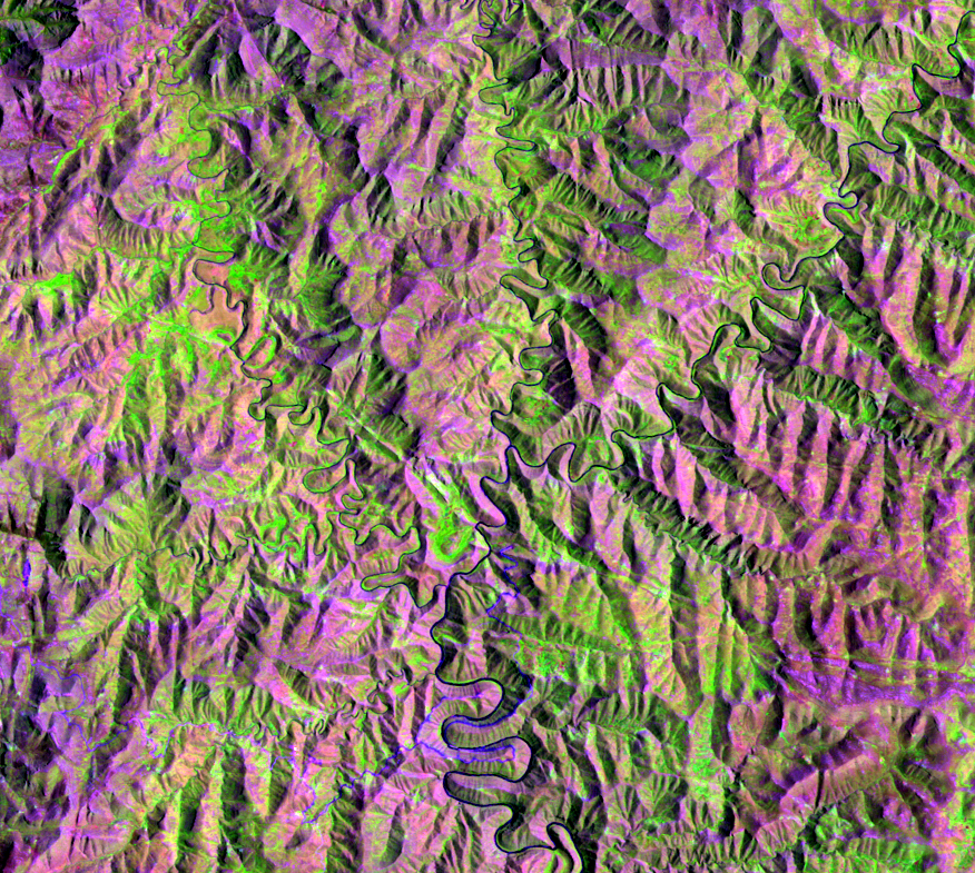 Feb. 2, 1997, Landsat 5 (path/row 170/80) — Mohale reservoir, Lesotho