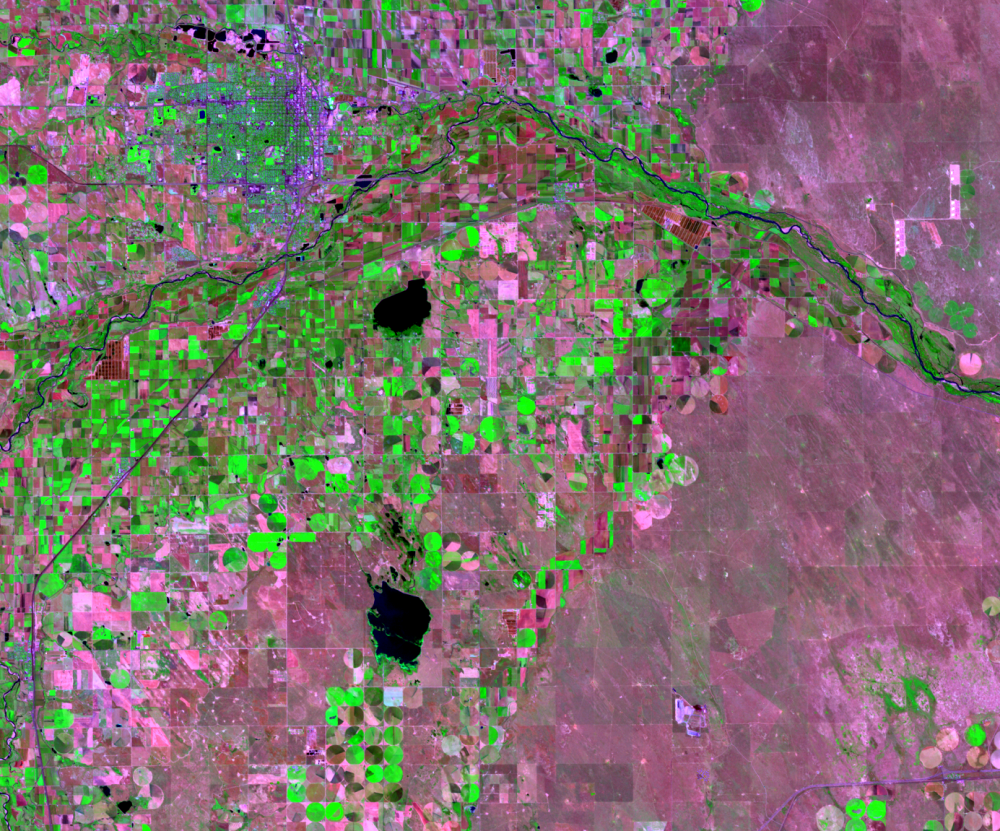 June 23, 1990, Landsat 5 (path/row 33/32) — Greeley, CO, USA