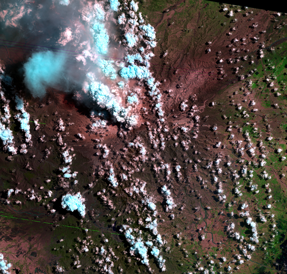 July 2, 1991, Landsat 5 (path/row 116/50) — Mount Pinatubo, Philippines