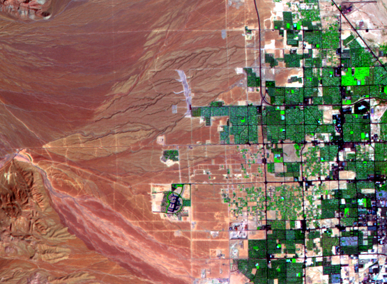 Sep. 10, 1986, Landsat 5 (path/row 39/35) — western Las Vegas, Nevada, USA
