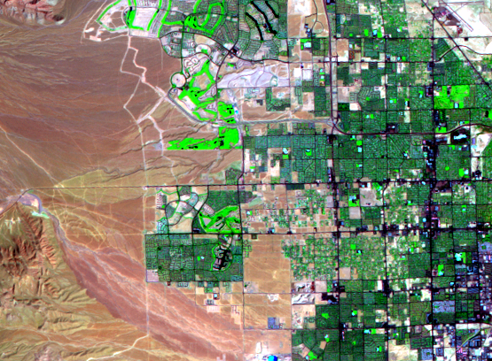 Sep. 10, 1992, Landsat 5 (path/row 39/35) — western Las Vegas, Nevada, USA