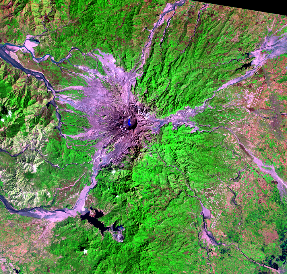 Feb. 13, 1993, Landsat 5 (path/row 116/50) — Mount Pinatubo, Philippines
