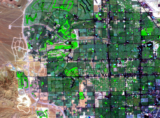 Sep. 24, 2000, Landsat 7 (path/row 39/35) — western Las Vegas, Nevada, USA
