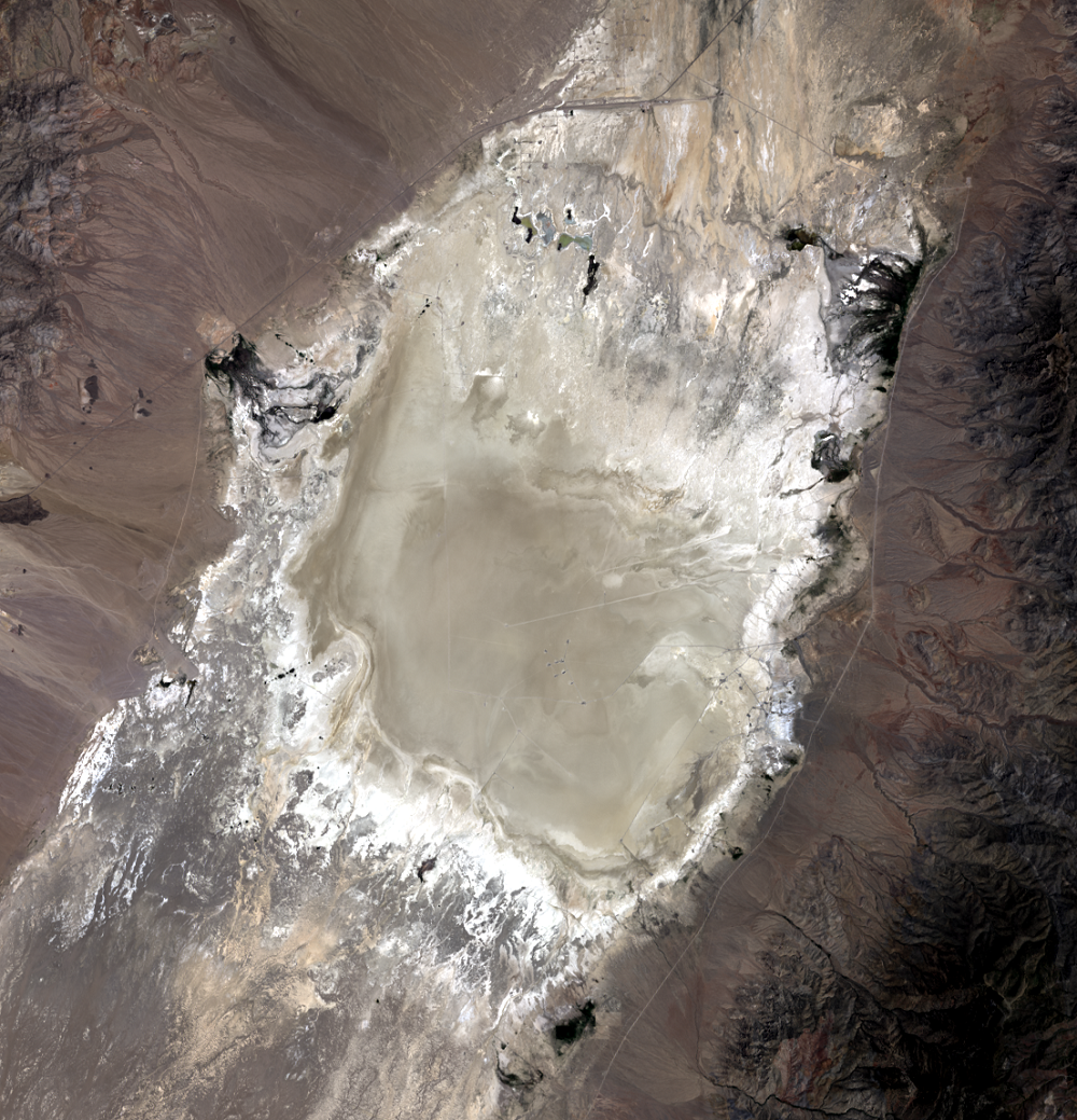 July 10, 2019, Landsat 8 (path/row 40/33) — calibration test site at Railroad Valley Playa, Nevada