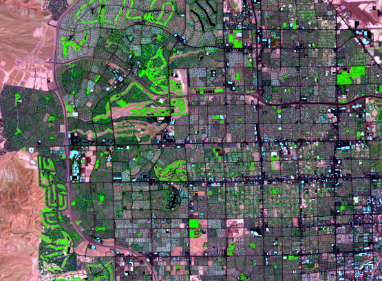 Aug. 6, 2020, Landsat 8 (path/row 39/35) — western Las Vegas, Nevada, USA