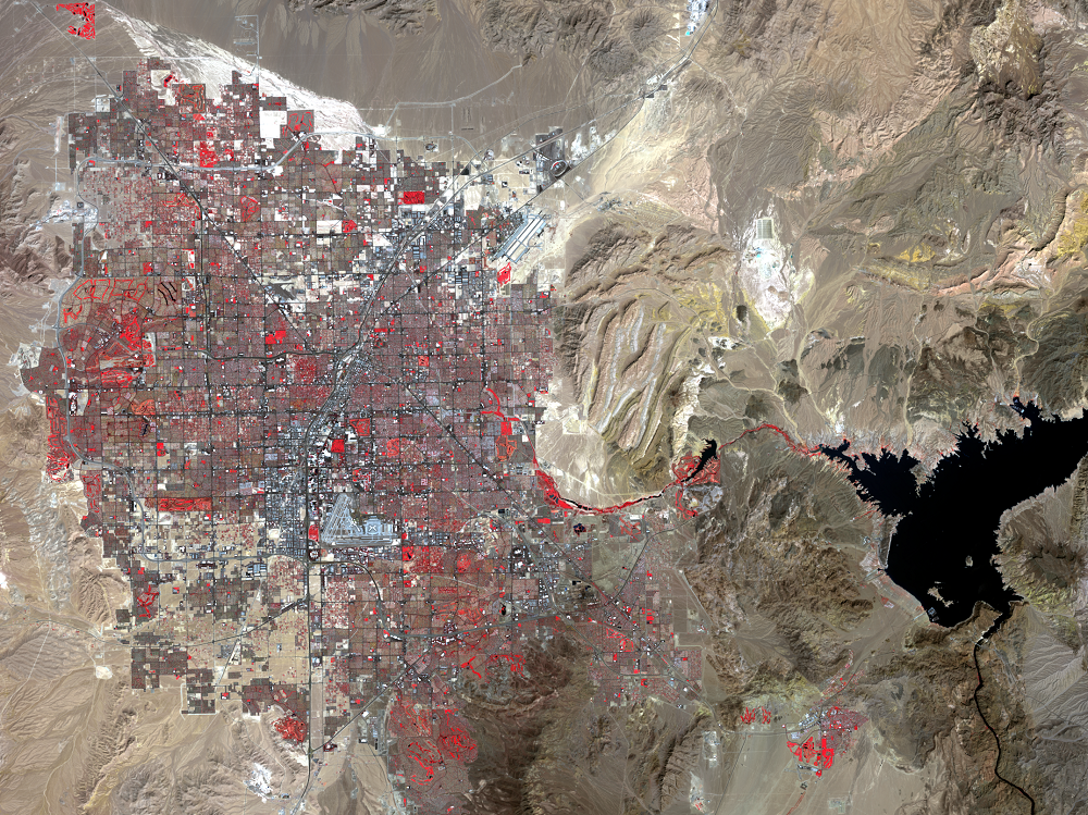 Sep. 10, 2015, Landsat 8 (path/row 39/35) — Las Vegas, Nevada, USA