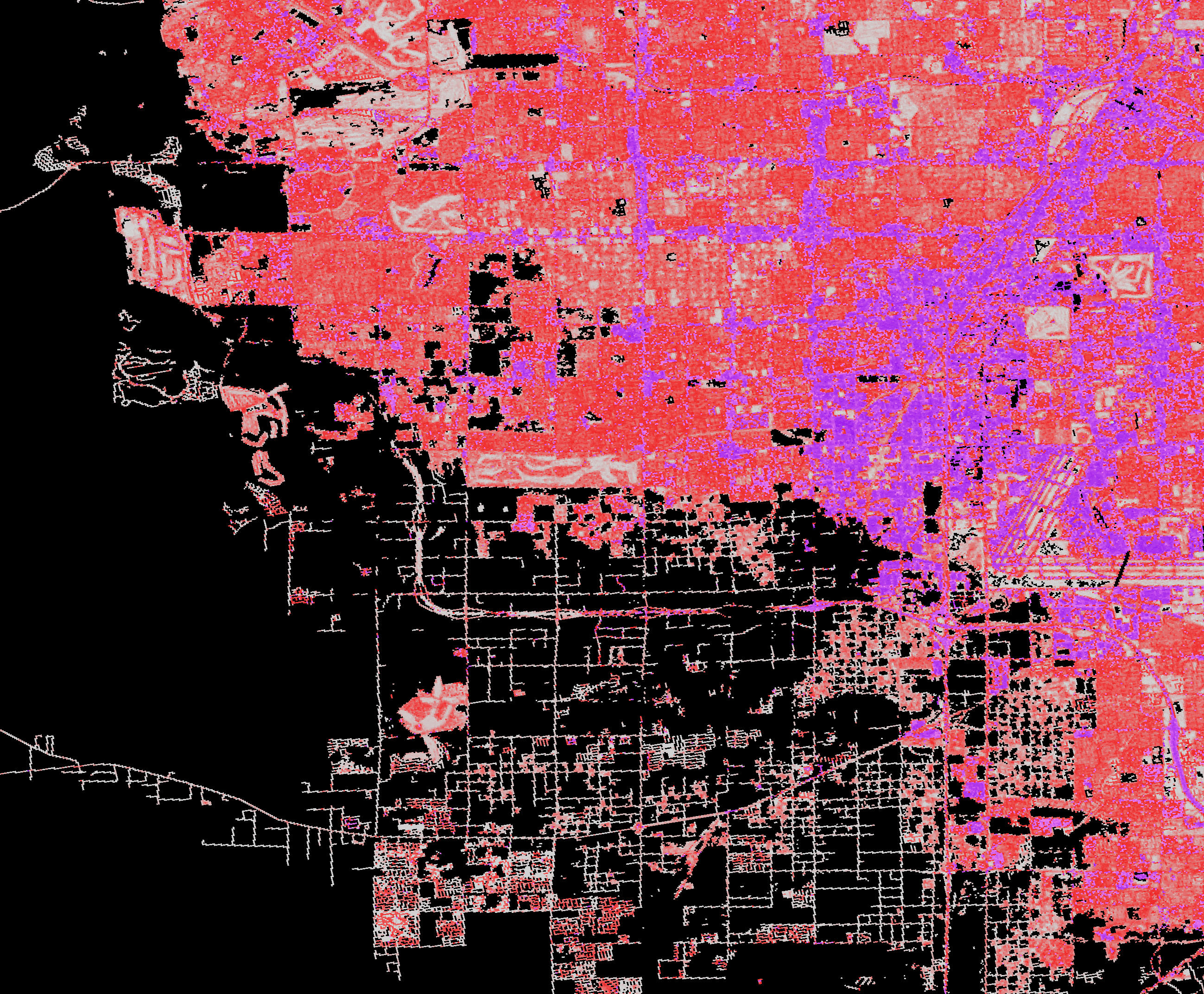 National Land Cover Database (NLCD) 2001, Impervious Surface, Las Vegas, Nevada,