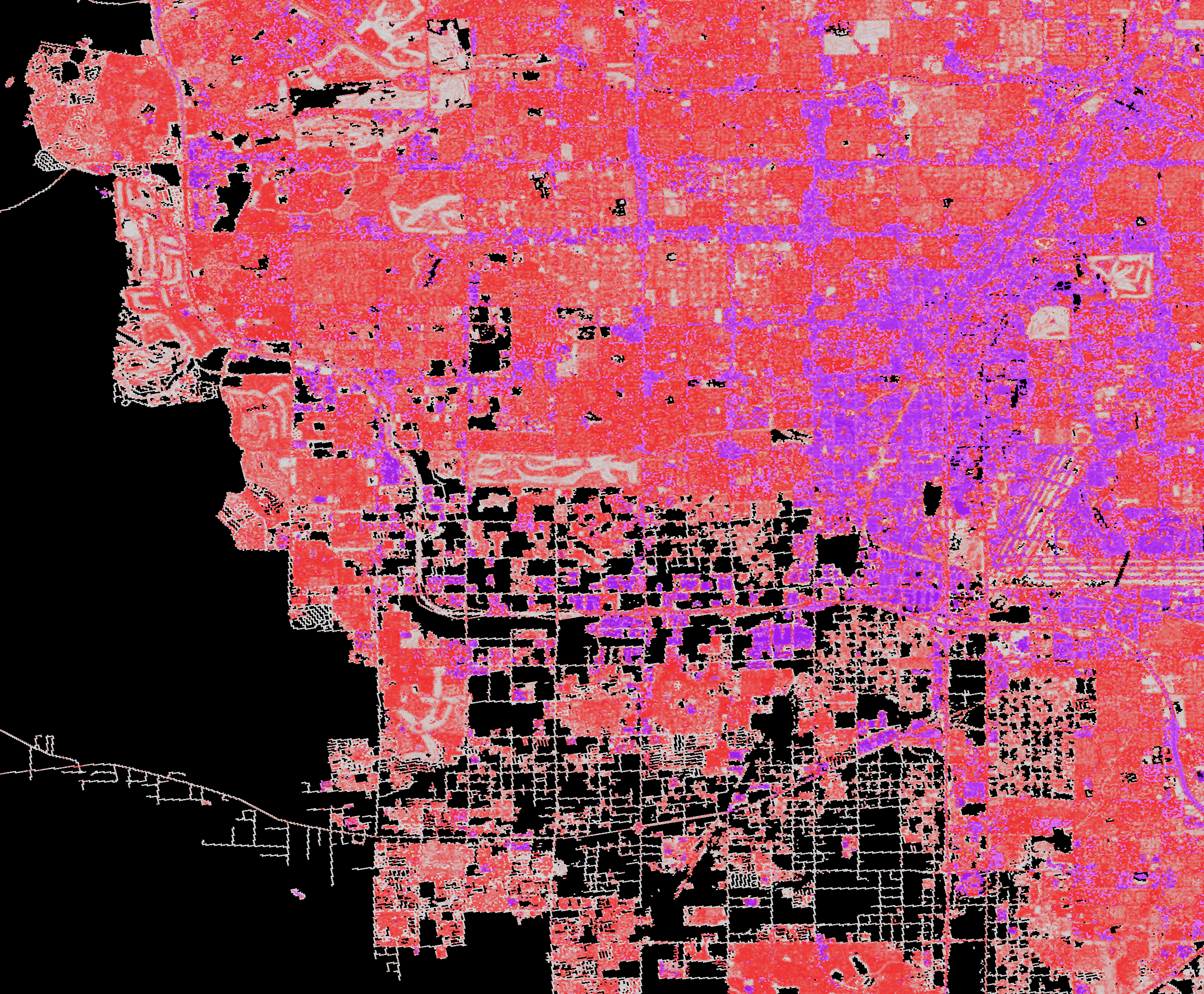 National Land Cover Database (NLCD) 2016, Impervious Surface, Las Vegas, Nevada,