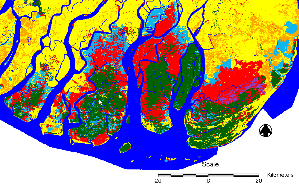 Mangrove change map of the Ayeyarwady Delta, Myanmar (Giri and others, 2008).