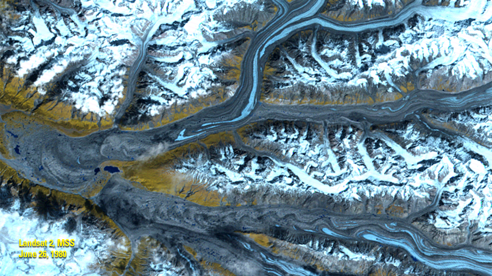 June 26, 1980, Landsat 3, MSS — Chitina River Valley, Alaska, USA