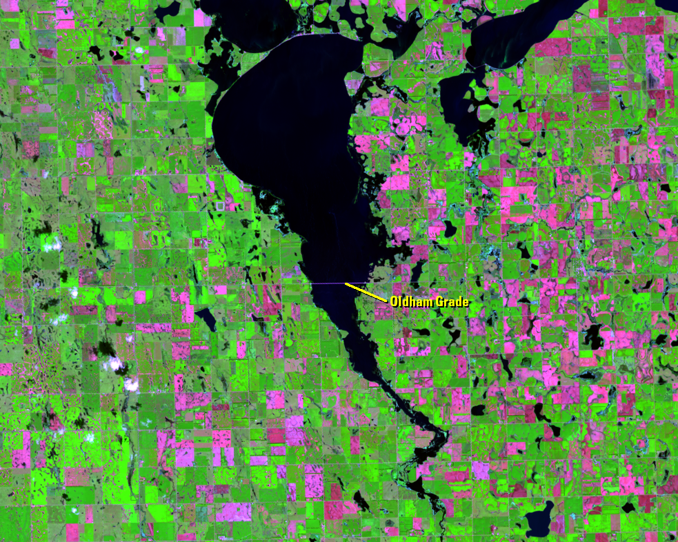 Sep. 6, 2019, Landsat 8 (path/row 30/29) — Lake Thompson, South Dakota, USA