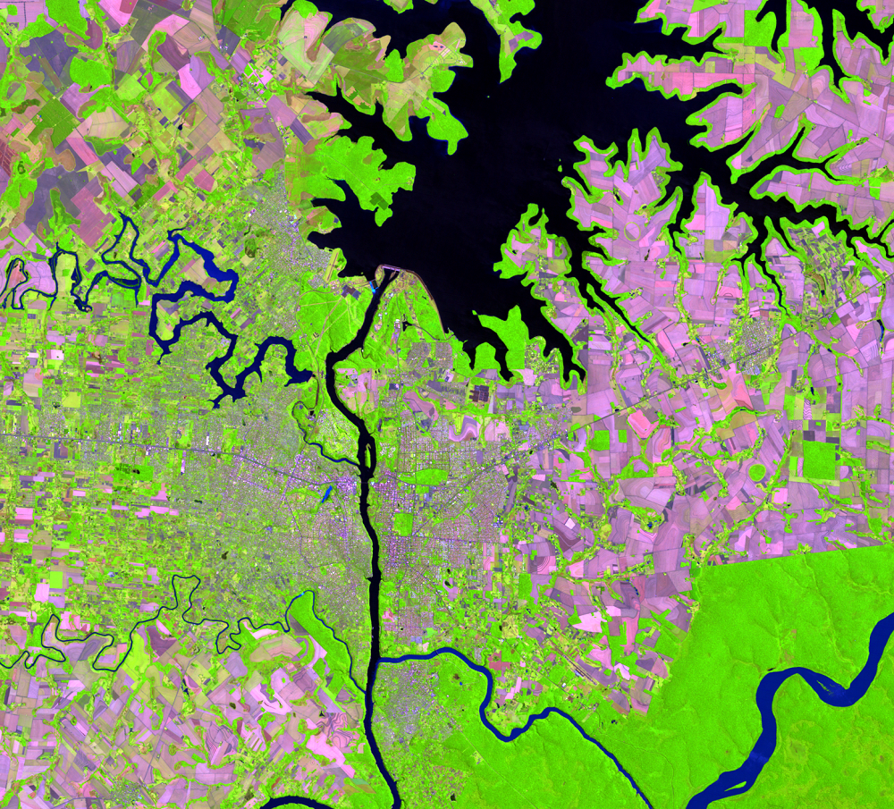 Nov. 2, 2011, Landsat 5 (path/row 224/78) — Itaipú Dam, South America