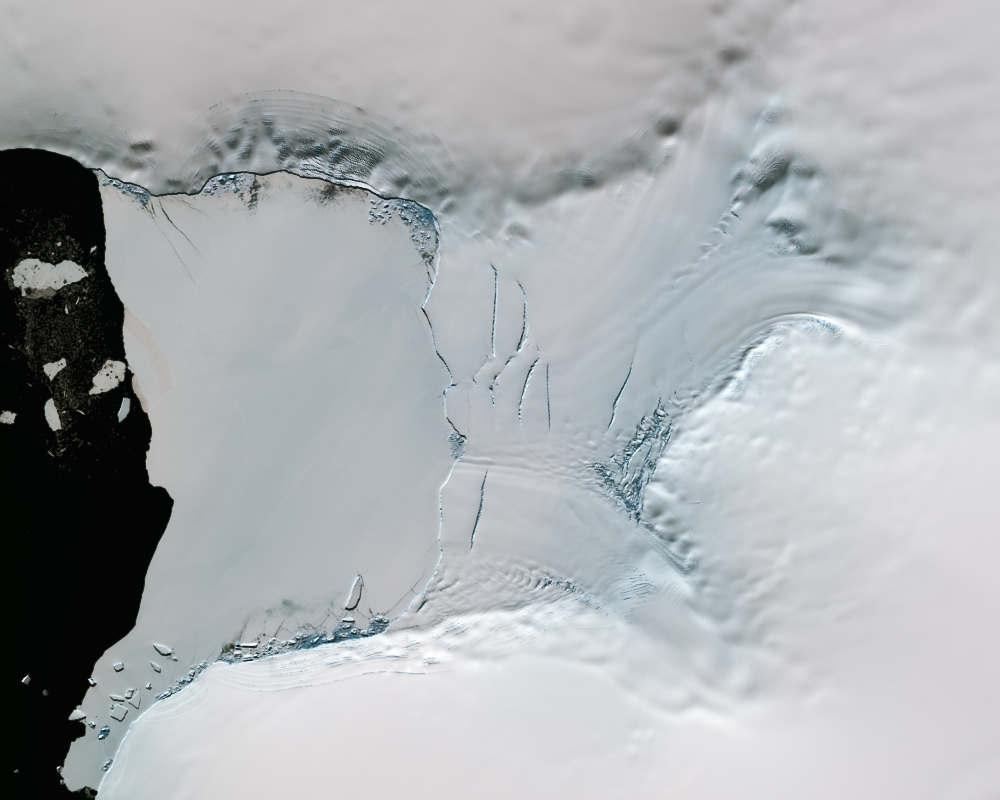 Dec. 27, 2013, Landsat 8 (path/row 222/110) — Verdi Ice Shelf, Antarctica