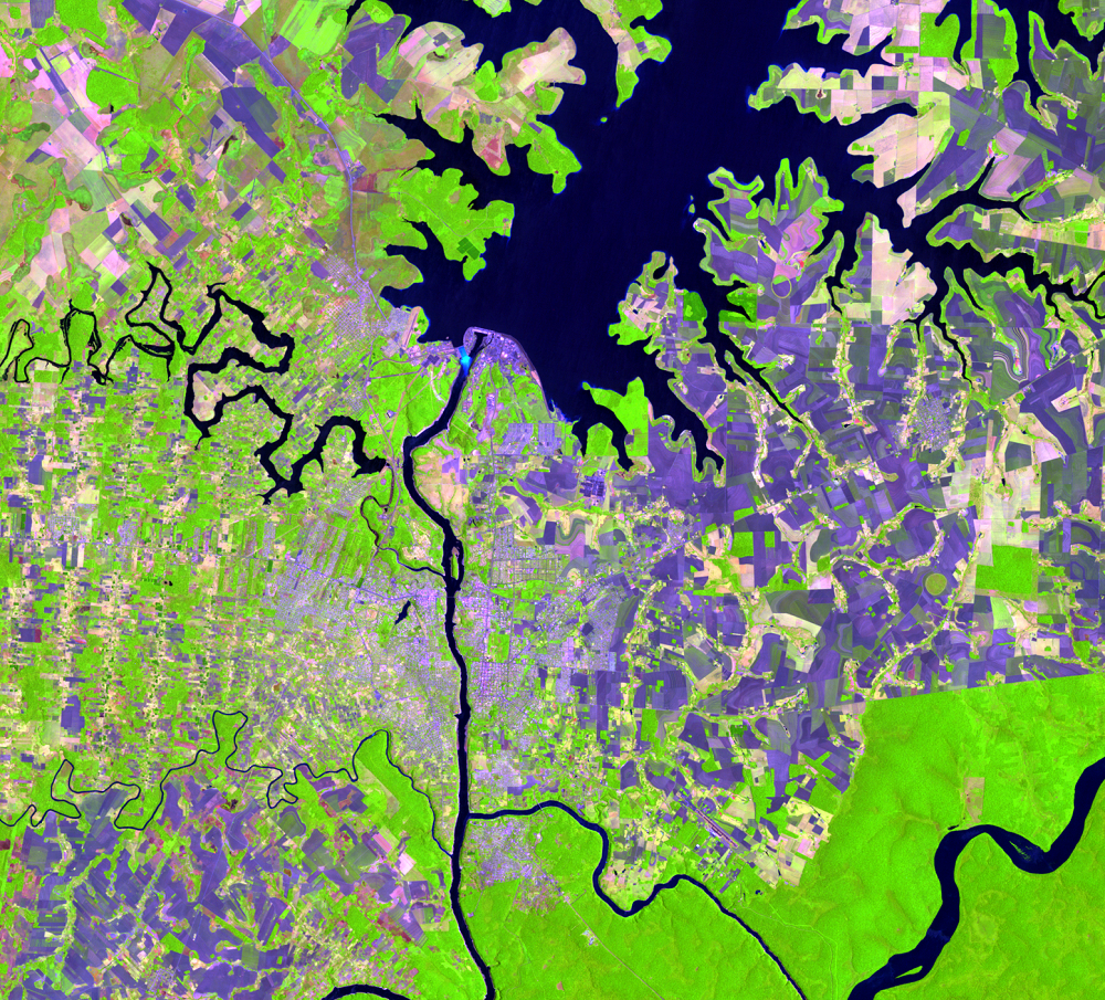 Dec. 4, 1988, Landsat 5 (path/row 224/78) — Itaipú Dam, South America