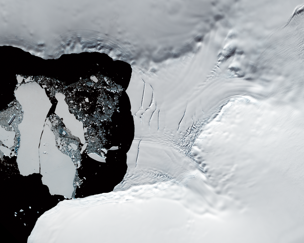 Feb. 27, 2015, Landsat 8 (path/row 219/111) — Verdi Ice Shelf, Antarctica