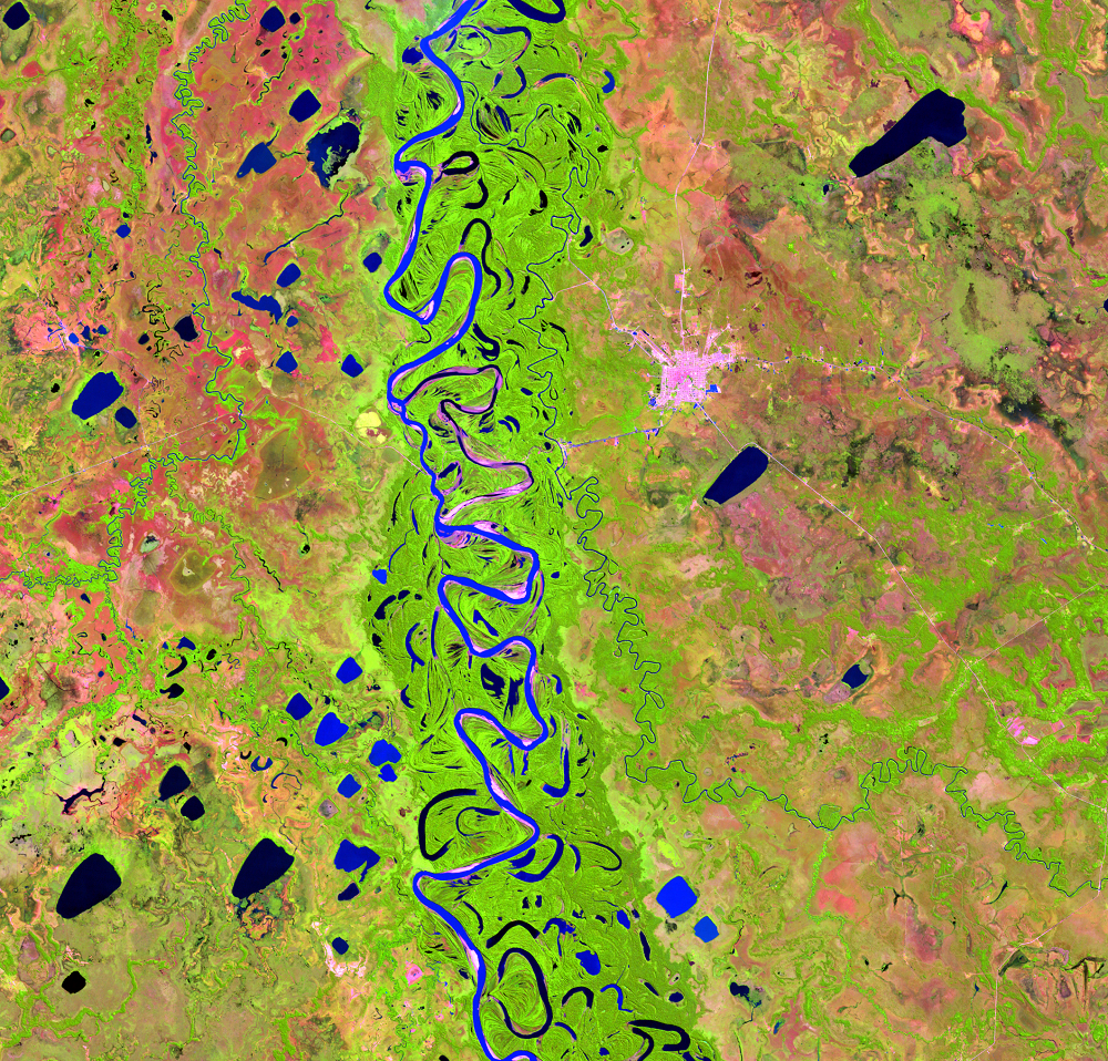 July 1, 1998, Landsat 5 (path/row 232/70) — Mamoré River, Bolivia