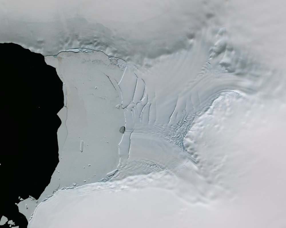 Jan. 11, 2016, Landsat 8 (path/row 221/110) — Verdi Ice Shelf, Antarctica