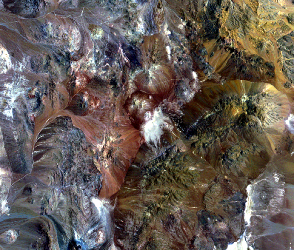 Oct. 30, 1972, Landsat 1 (path/row 250/77) — Escondida Mine, Chile