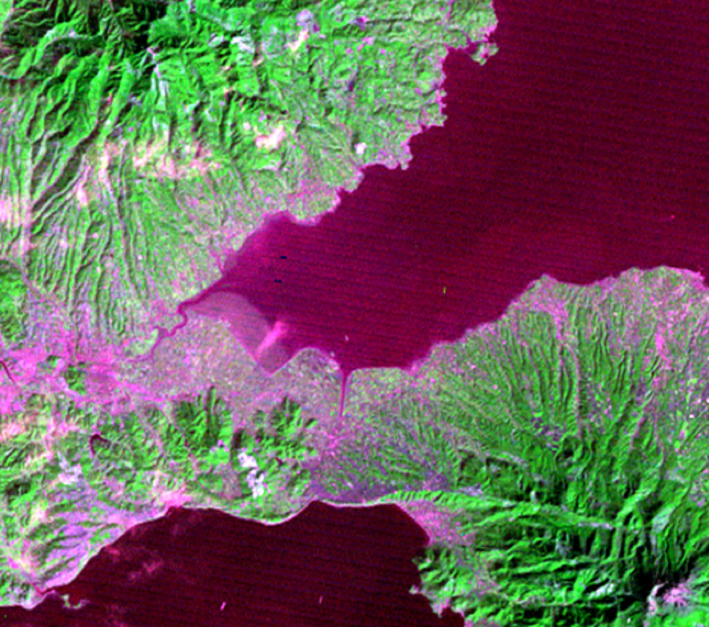 Feb. 8, 1979, Landsat 2 (path/row 121/37) — Isahaya Bay, Japan
