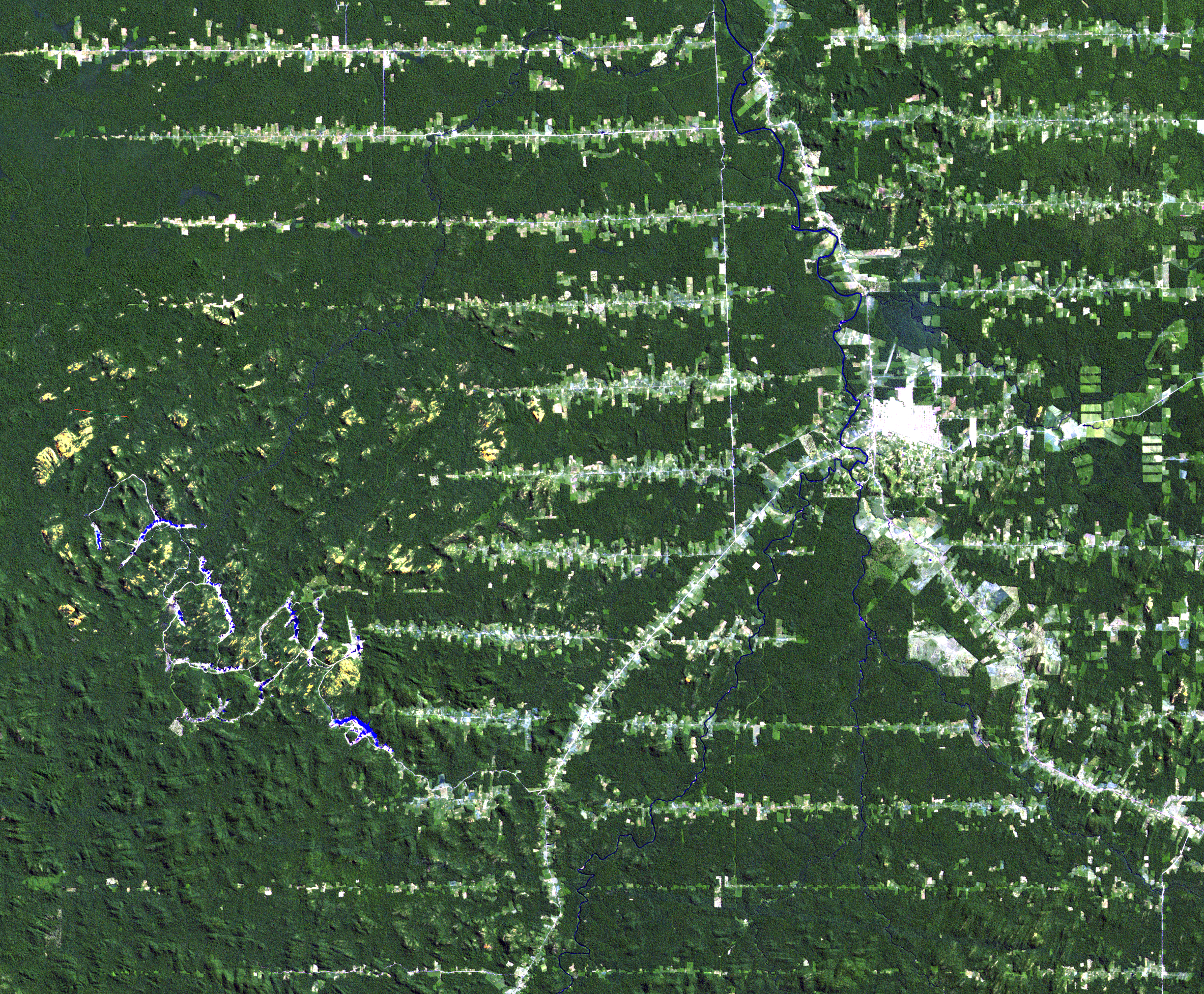 June 24, 1984, Landsat 5 (path/row 232/67) — Ariquemes, Brazil
