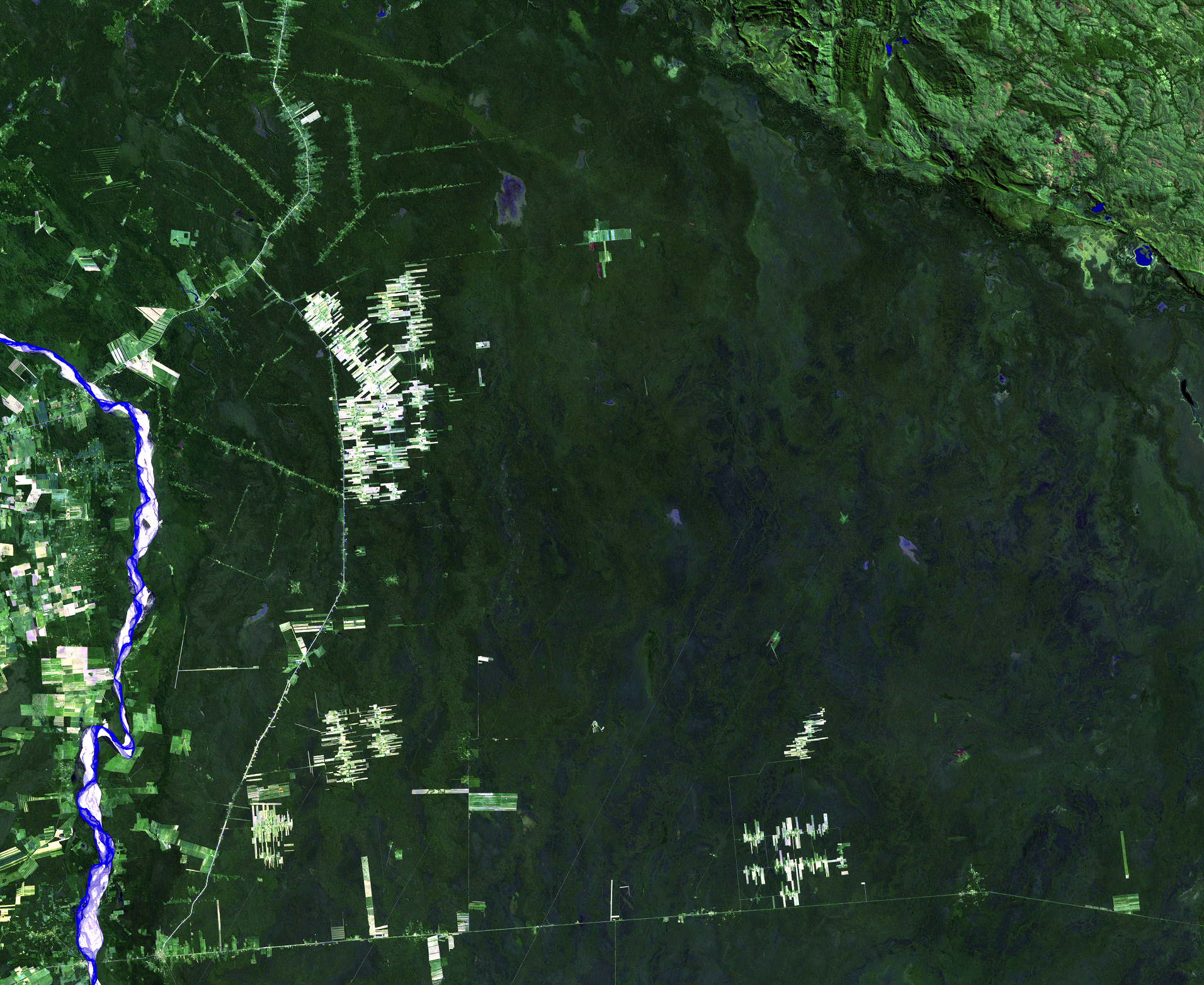 July 2, 1986, Landsat 5 (path/row 230/72) — Deforestation, Santa Cruz, Bolivia