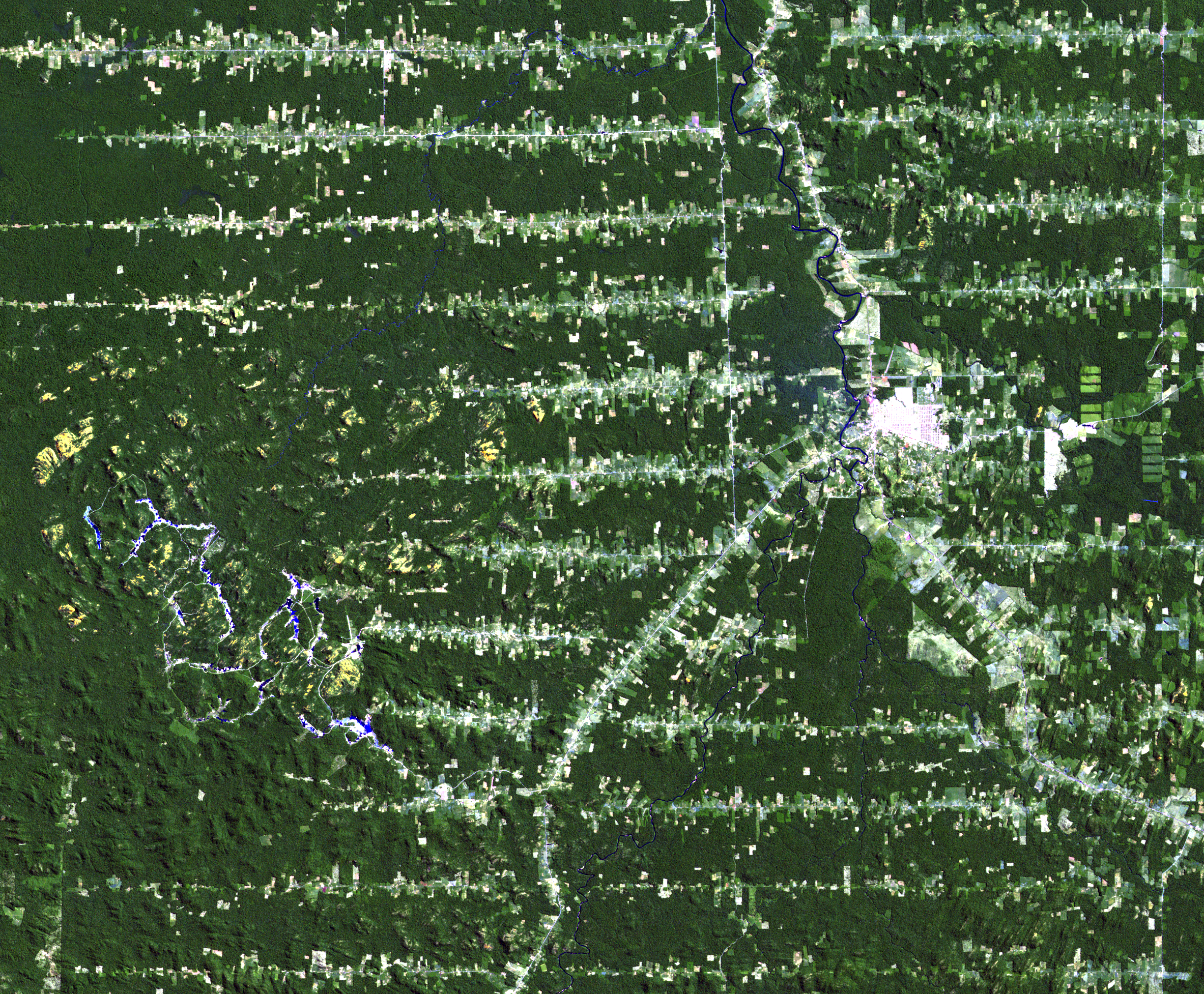 July 16, 1986, Landsat 5 (path/row 232/67) — Ariquemes, Brazil