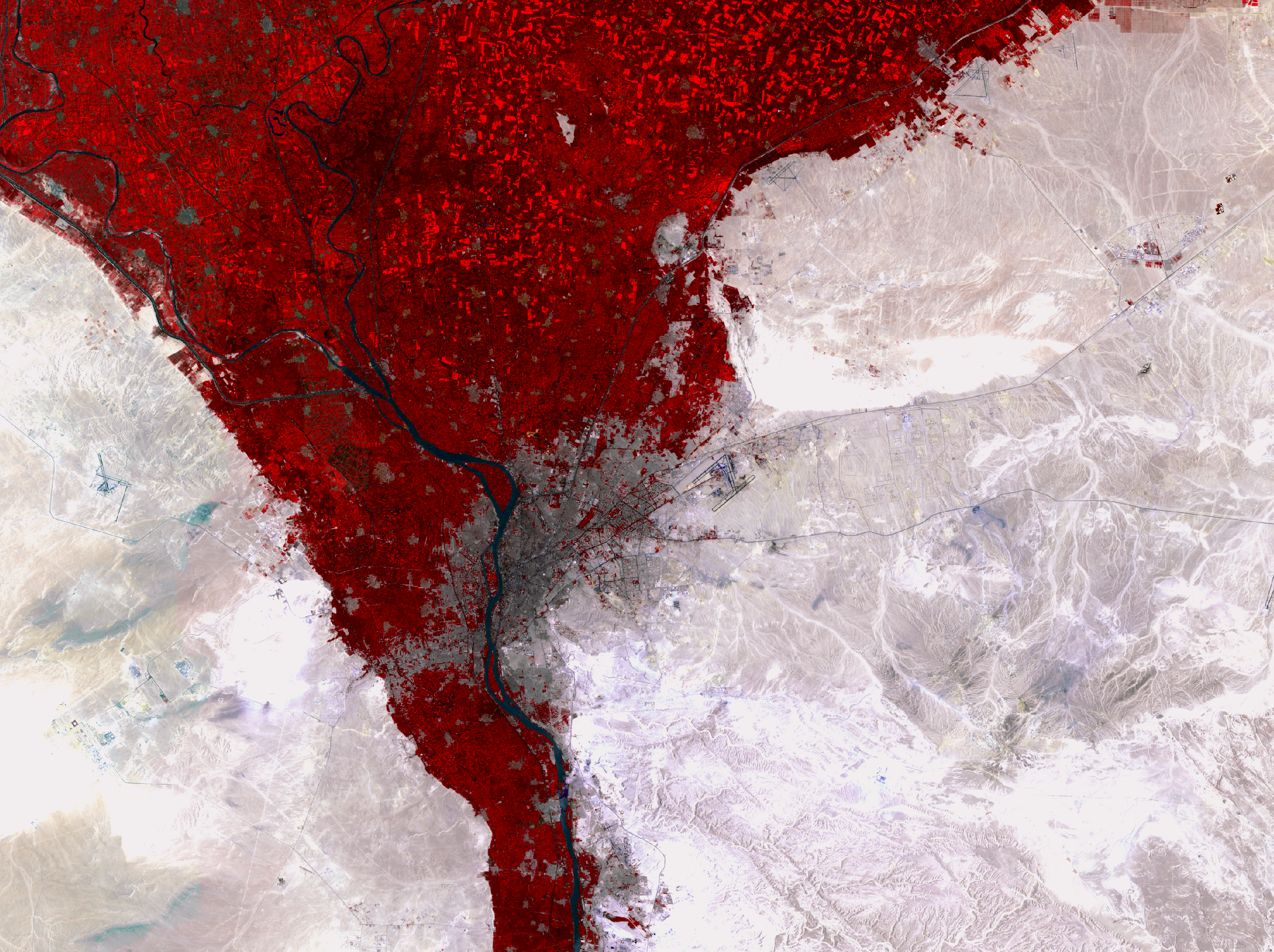 July 18 and 27, 1987, Landsat 5 (path/row 176,177/39) — Cairo, Egypt