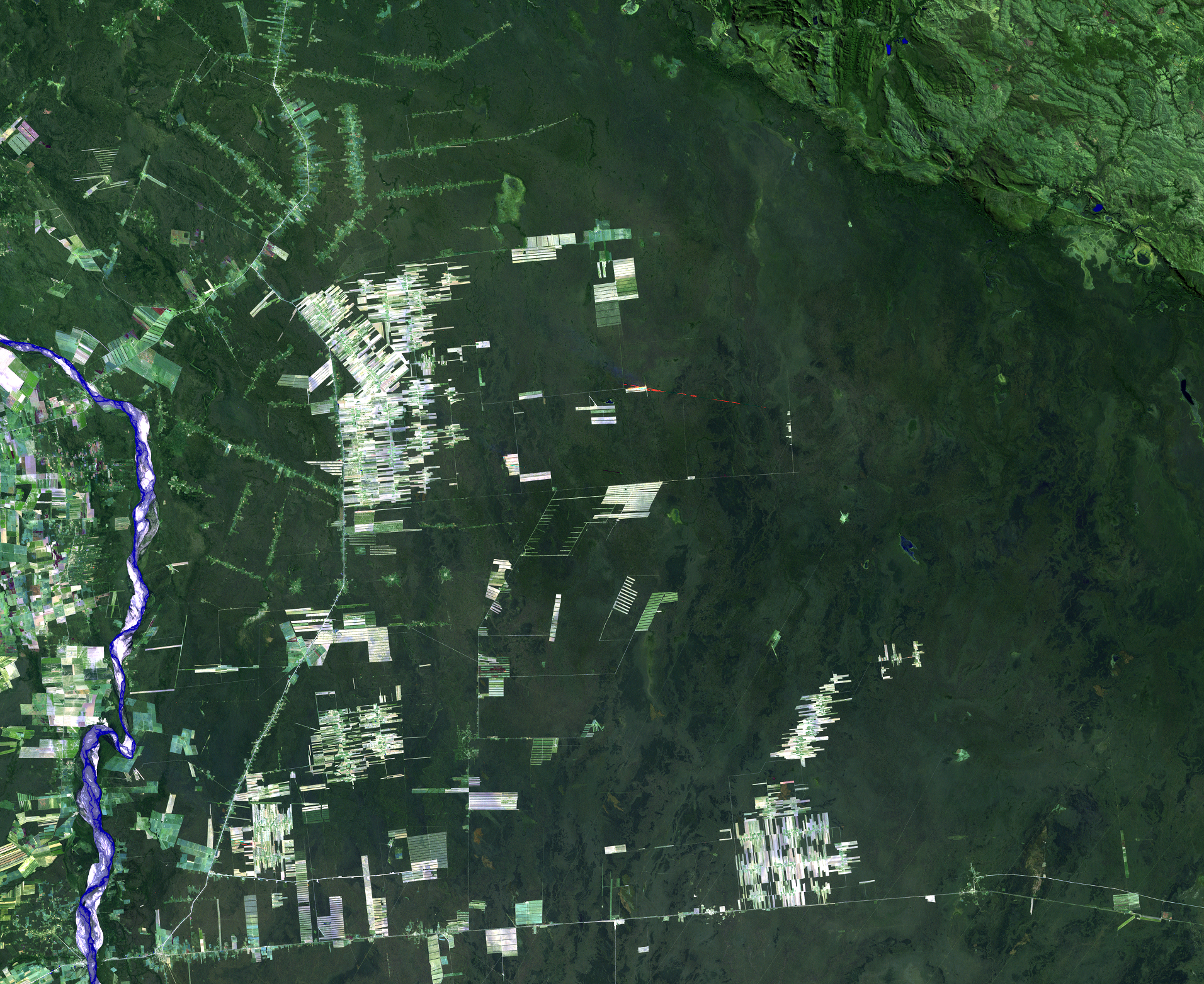 Aug. 11, 1989, Landsat 5 (path/row 230/72) — Deforestation, Santa Cruz, Bolivia