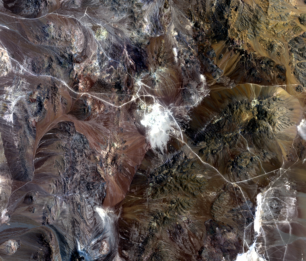 Oct. 27, 1989, Landsat 4 (path/row 233/77) — Escondida Mine, Chile
