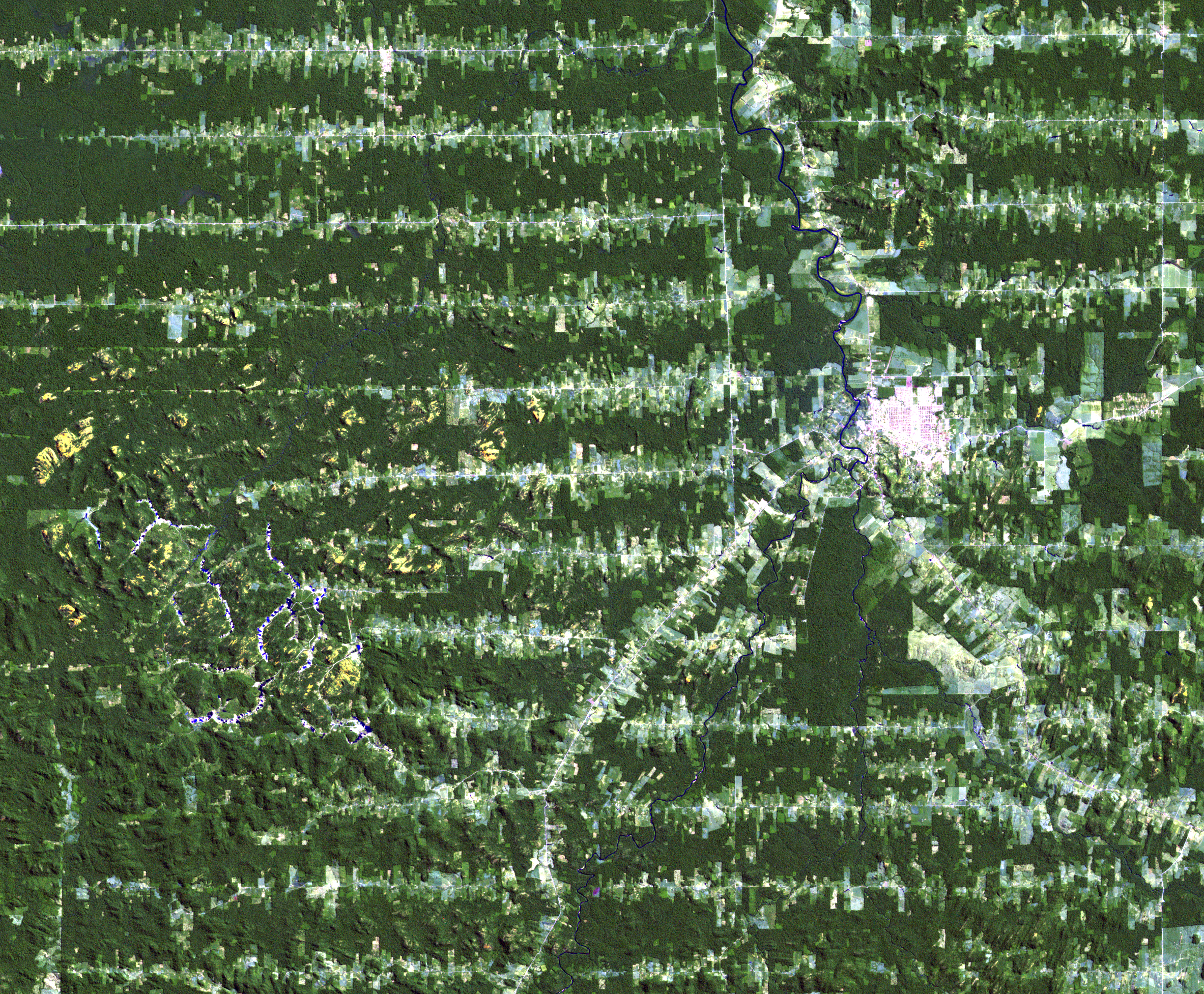 June 22, 1992, Landsat 4 (path/row 232/67) — Ariquemes, Brazil