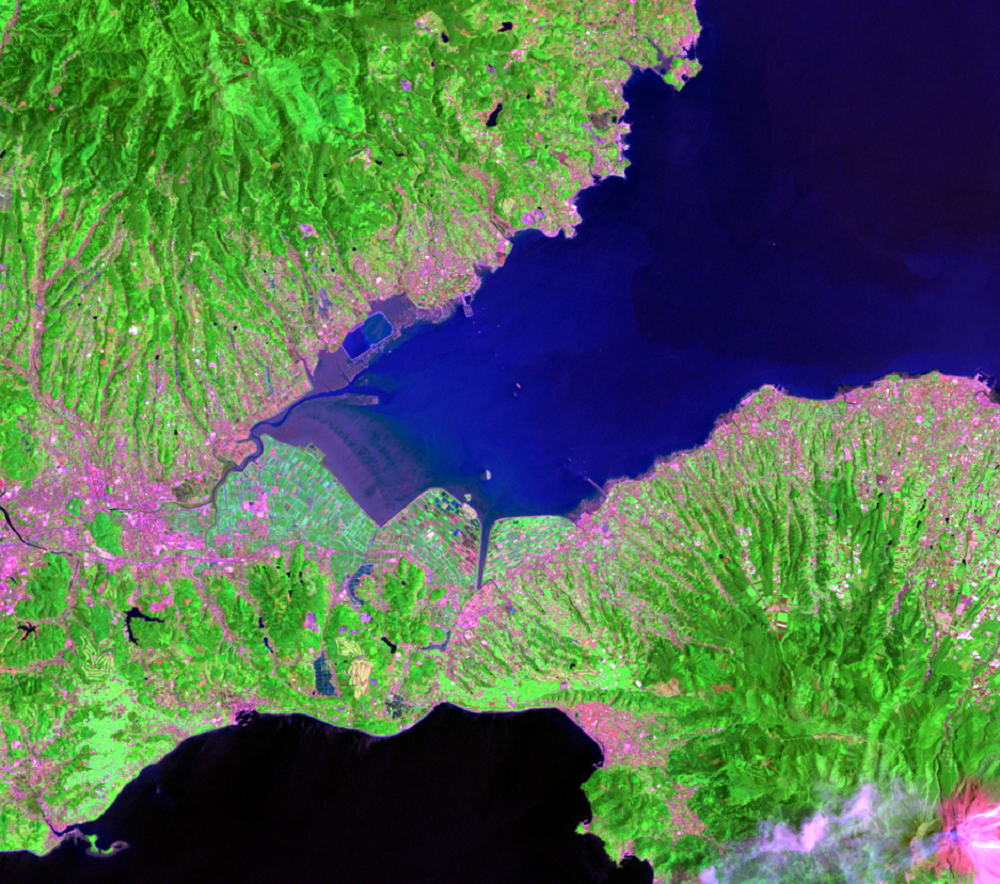 May 15, 1993, Landsat 5 (path/row 113/37) — Isahaya Bay, Japan