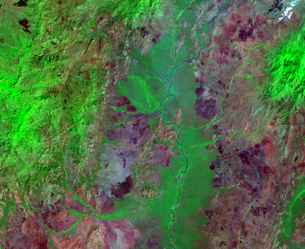Jan. 8, 2011, Landsat 5 (path/row 170/56) — Sugar plantations, lower Omo River Valley, Ethiopia