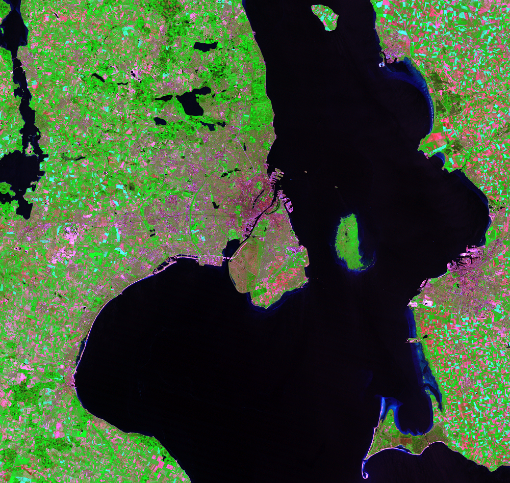 June 1, 1985, Landsat 5 (path/row 194/21) — Copenhagen, Denmark