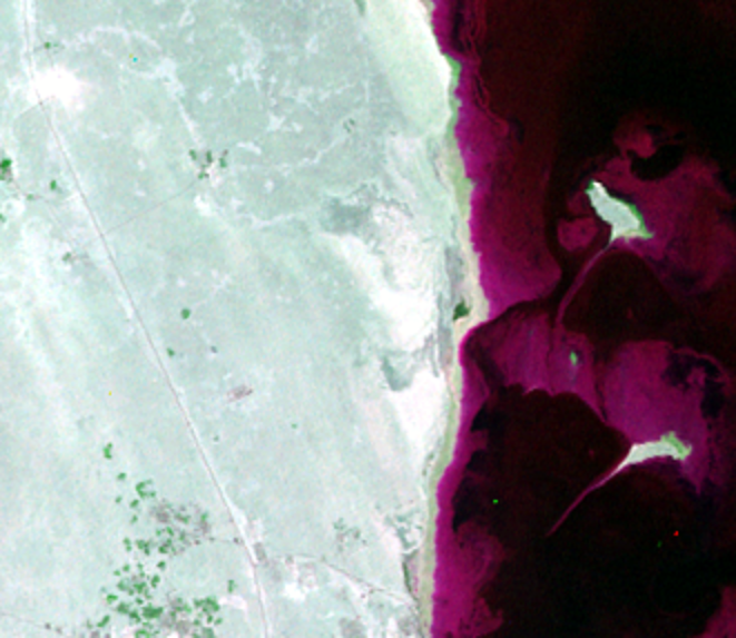 Sep. 3, 1972, Landsat 1 (path/row 175/42) — The Pearl-Qatar, Doha, Qatar
