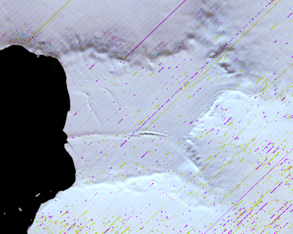 Jan. 29, 1973, Landsat 1 (path/row 233/111) — Verdi Ice Shelf, Antarctica