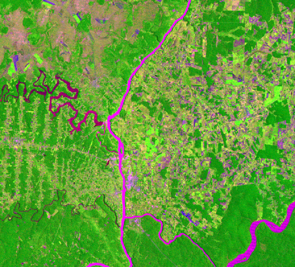 Feb. 23, 1973, Landsat 1 (path/row 240/78) — location of Itaipú Dam, South America