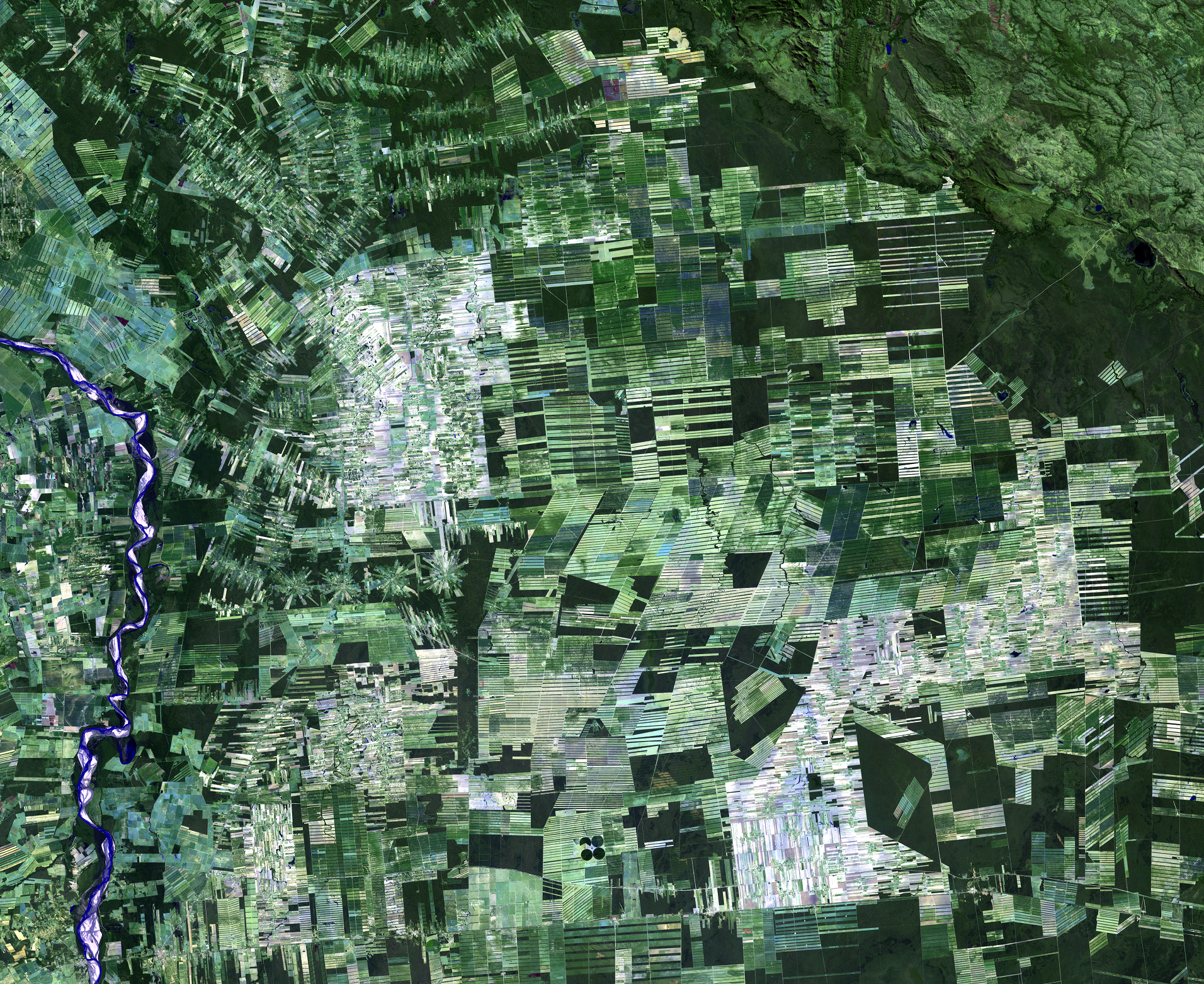Aug. 1, 2000, Landsat 5 (path/row 230/72) — Deforestation, Santa Cruz, Bolivia