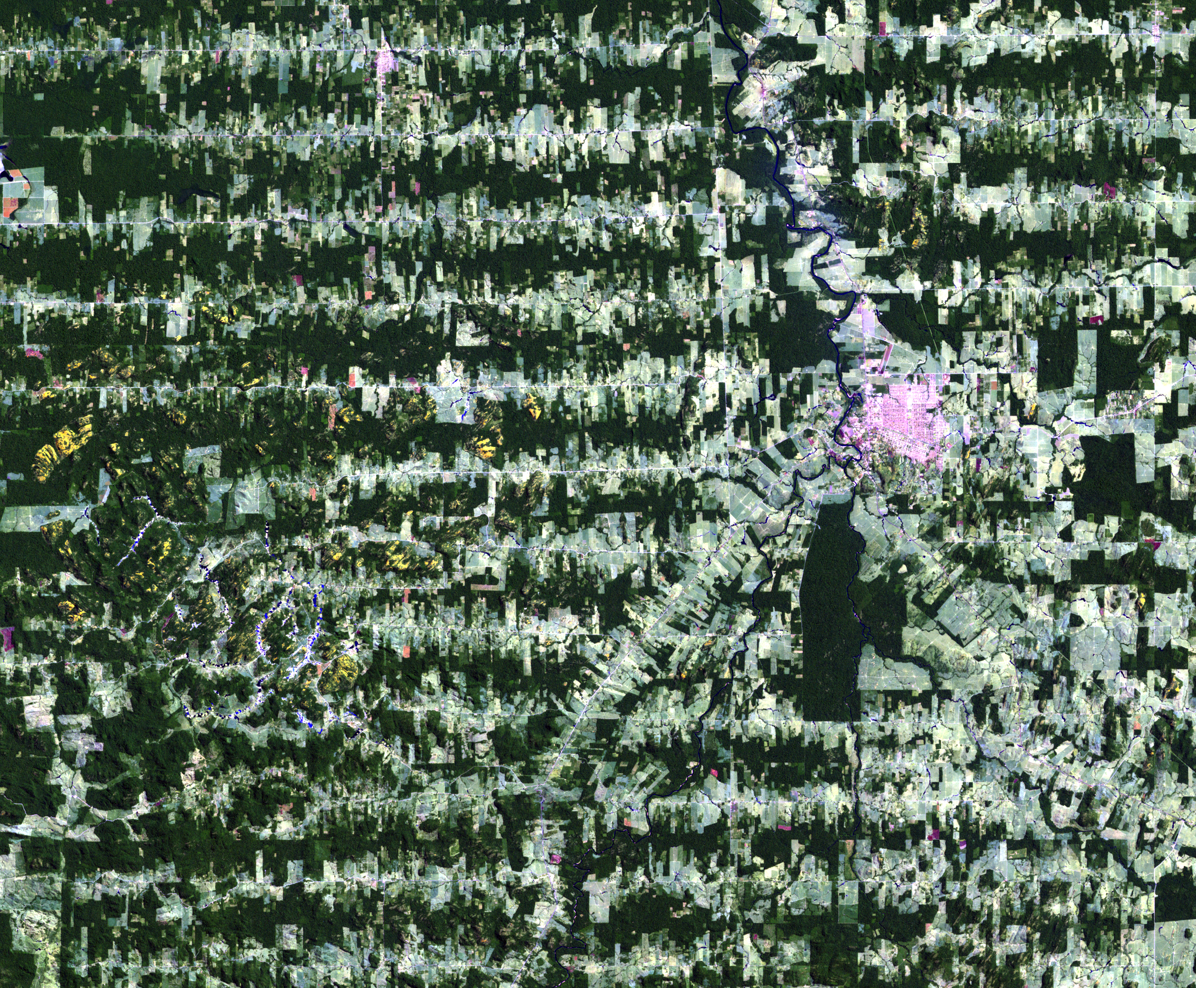 Aug. 10, 2001, Landsat 5 (path/row 232/67) — Ariquemes, Brazil